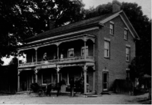 Commercial Hotel, Meadowvale Village, c1900