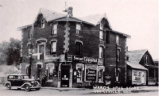 Revere House Ward Drugstore, Cooksville c1930